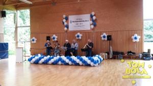 Bühnendekoration mit Luftballons