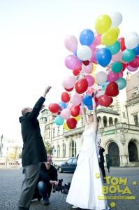 Bunte Ballons zur Hochzeit