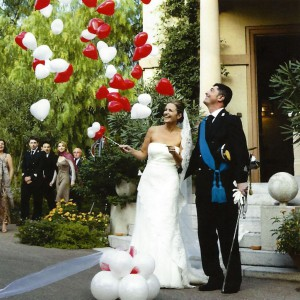 explodierender Ballon zur Hochzeit in Bremen-2